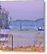 Cool Morning In Vermont Metal Print