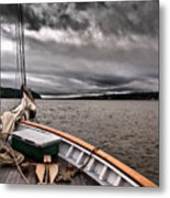 Cool Winds On The Hudson Metal Print