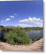 Coons Bluff Salt River Arizona Metal Print
