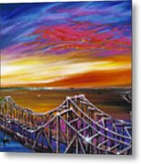 Cooper River Bridge Metal Print by James Christopher Hill