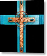 Copper And Stone Cross Metal Print