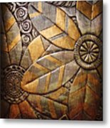 Copper Design Metal Print