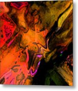 Copper Smelter Metal Print