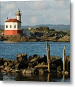 Coquille River Lighthouse Bandon Oregon Metal Print