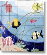 Coral Reef Whimsy Metal Print