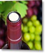 Cork Of Wine Bottle  Metal Print by Anna Om