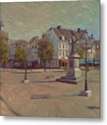 Corner Bosch Street And Market Maastricht Metal Print