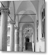 Corridor In Wawel Metal Print