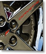 Corvette Spokes II Metal Print by Ricky Barnard