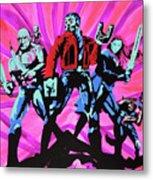 Cosmic Guardians Of The Galaxy 2 Metal Print