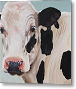 Cosmoo Cow Metal Print by Laura Carey