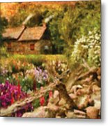 Cottage - There's No Place Like Home Metal Print