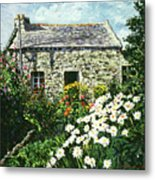 Cottage Of Stone Metal Print by David Lloyd Glover