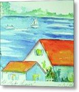 Cottage On Lake Lanier Metal Print