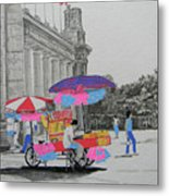 Cotton Candy At The Cne Metal Print