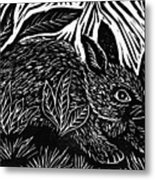Cottontail Block Print Metal Print by Ellen Miffitt