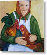 Country Chickens Metal Print