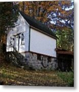 Country Cottage In Autumn Metal Print