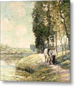 Country Road To Spuyten Metal Print