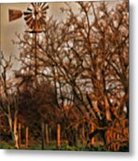 Countryside Windmill Metal Print