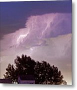 County Line Northern Colorado Lightning Storm Panorama Metal Print by James BO  Insogna