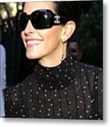 Courteney Cox Wearing Chanel Sunglasses Metal Print by Everett