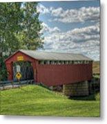 Covered Bridge In Ohio Metal Print by Pamela Baker