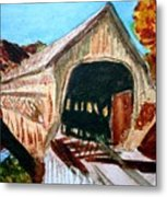 Covered Bridge Woodstock Vt Metal Print