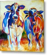Cow Therapy Makes You Smile Metal Print