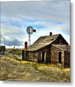 Cowboy Cabin Metal Print