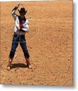 Cowboy Entertainer Metal Print