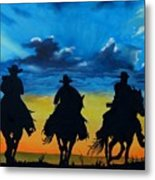 Cowboy  Sunset Metal Print