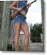 Cowgirl 019 Metal Print