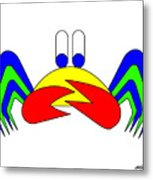 Crab-mac-claw Metal Print
