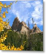Crags In Fall Metal Print