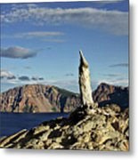 Crater Lake In The Southern Cascades Of Oregon Metal Print