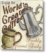 Cream Coffee 1 Metal Print