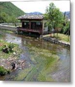Creekside Lookout Metal Print