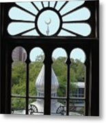 Crescent Window Metal Print