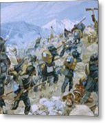 Crimean War And The Battle Of Chernaya Metal Print by Italian School