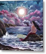Crimson Mermaid Metal Print