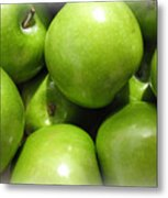 Crispy Green Apples From The Farmers Market Metal Print
