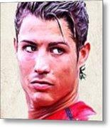 Cristiano Ronaldo Metal Print by Wu Wei