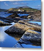 Cromwell Point Lighthouse Valentia Island Metal Print