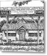 Crosby's Machine Shop Metal Print