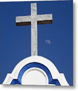 Cross Over The Church Metal Print