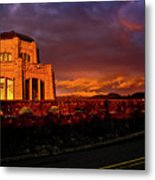 Crown Point At Sunset Metal Print