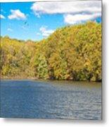 Crum Creek In Autumn Metal Print