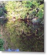Crystal Lake Reflection Metal Print