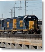 Csx 8011 Bone Valley Bound Metal Print